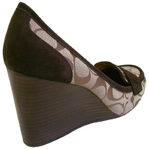 Coach nela penny loafer wedges